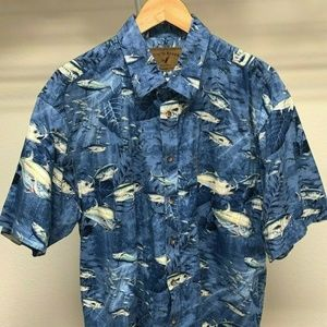 NORTH RIVER OUTFITTERS Blue Fishes Button Down